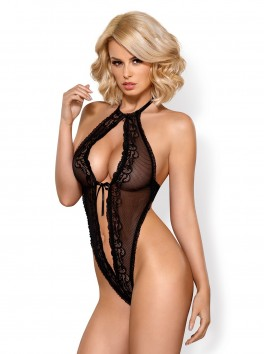 Body teddy string ouvert 830-TED noir