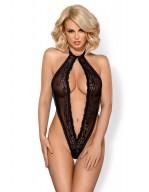 Body teddy string ouvert 830-TED noir