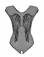 Body résille ailes d'anges B112 noir