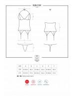 Corset porte-jarretelles et string 828-COR-1 noir