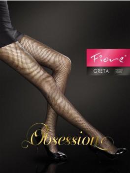 Collant résille sexy et élégant Greta FI noir