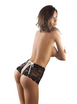 Shorty string taille haute Felicity dentelle noire