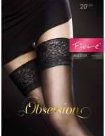 Bas noir auto-fixant top dentelle sexy Milena Black FI