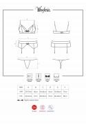 Ensemble lingerie 3 pièces dont porte-jarretelles réglables Wonderia