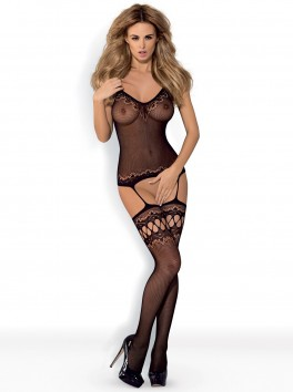 F214 bodystocking black