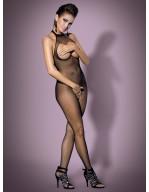 Combinaison résille seins et dos nus N101 noir