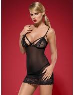 Nuisette sexy douce et sensuelle Wonderia noir
