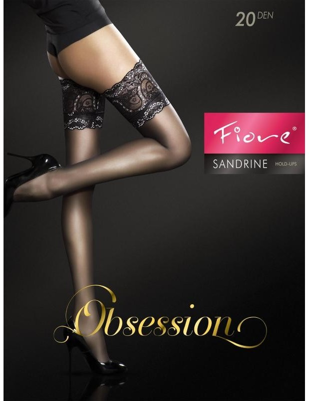 Bas sensuel noir mat autofixant et renforcé Sandrine FI