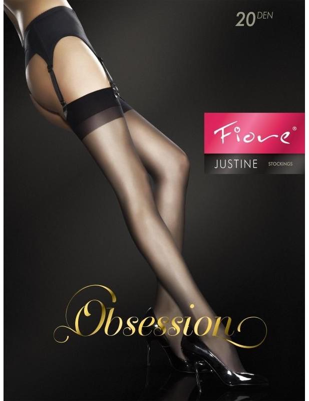 Bas noir sexy doux et confortable Justine FI