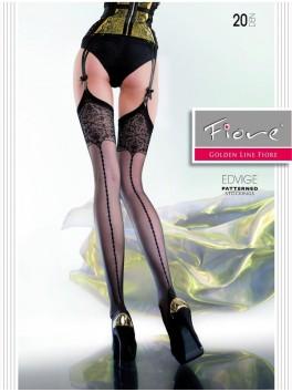 Bas sexy pour jarretelles motif sensualité Edvige FI
