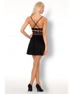 Nuisette micro-résille coupe robe courte féminine Collyna