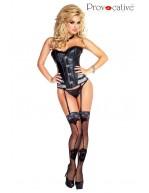 Guêpière corset simili cuir Paquita