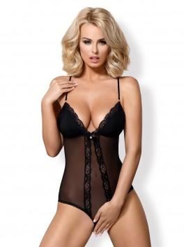 Body sensuel noir ouvert sur les fesses 841-TED-1