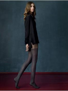 Collant mode féminine 40 deniers à pois Grey Cat