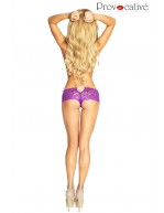 Shorty strassé violet Mambo