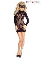 Robe nuisette noire résille façon tribal Sexy Dress