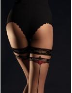 Collant noir 20 deniers raffiné et élégant avec couture Taboo