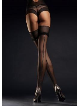 Bas stylisé et sexy avec couture argentée Allure