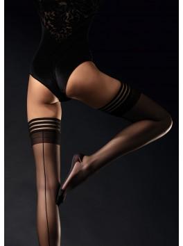 Bas féminin autoportants avec coutures et talons fantaisie renforcés Femme Fatale
