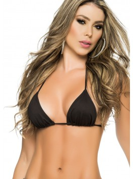 Haut noir triangles sexy Top Style 9019