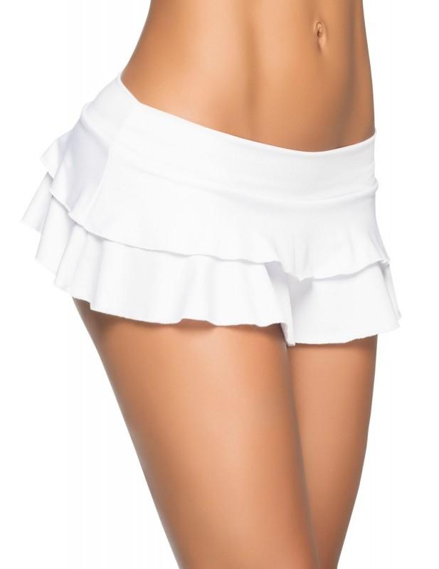 Mini jupe blanche coquine Style 5022
