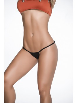 String sexy noir avec coupe Y sur fesses Style 1092