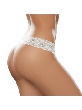 Tanga string blanc érotique et charmant en dentelle douce Style 93