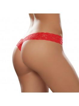 Tanga string rouge érotique et charmant en dentelle douce Style 93