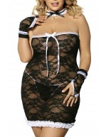 Costume grande taille de majordome complet 5 pièces sexy Cantrea