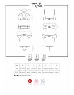 Ensemble de lingerie féminine 4 pièces avec liens élastiques et dentelle Frivolla