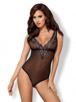 Body sexy avec dentelle graphique métallisée 869-TED-1