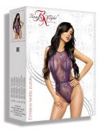 Body violet coquin en dentelle légère et chic Emiliana