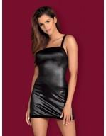 Robe nuisette courte façon vinyl dos sensuel Leatheria