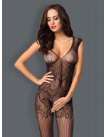 Combinaison ouverte sexy en résille effet habillé F234