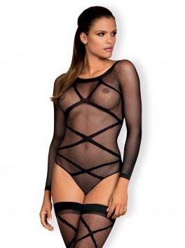 Body féminin en résille avec sa paire de bas assortis G320