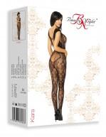 Combinaison motif dentelle avec filaments sexy Kiara