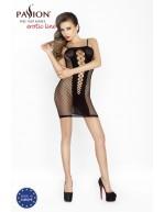 Robe noire féminine en résille élastique douce et confortable BS027