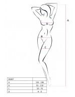 Combinaison féminine en résille avec manches 3/4 BS007