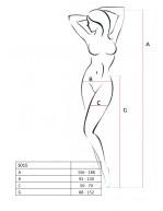 Collant ouvert en résille noir féminin avec jarretières laçages S015B