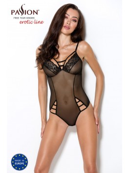 Body féminin de charme sexy en tulle ajouré et dentelle Melania