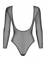 Body de charme en tissu transparent et manches longues B124