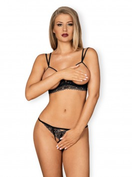 Ensemble lingerie fine dont soutien-gorge cupless Liferia