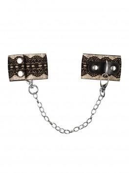 Menottes de charme avec fermeture boutons et chaîne amovible A746