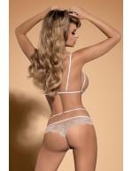Body sexy avec dentelle beige Bisquitta