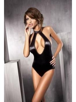 Body satiné noir original et sexy Inspiration