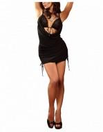 Robe courte noire effet soutien-gorge Francesca