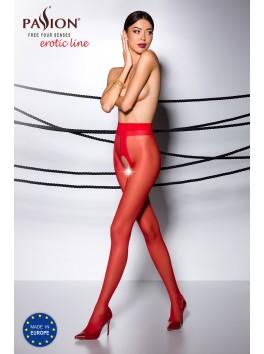 Collant rouge élégance sexy avec ouverture renforcée TI007R