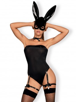 Déguisement érotique complet de lapine Bunny noir